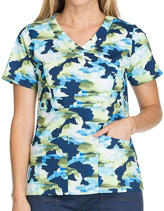 Dickies Take A Hike Women's Don't Make A Scene Printed Mockwrap Top