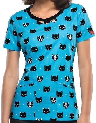Dickies EDS Women's Right Here Right Meow Jr. Fit Round Neck Top-DI-82808CME