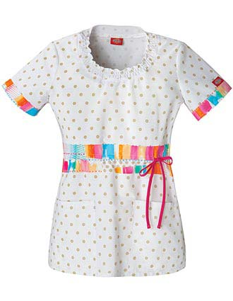 Buy Dickies Junior Fit Ray Of Bright Round Neck Nurses