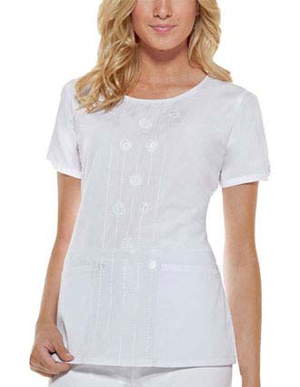 Dickies Junior Round Neck Embroidered Fashion Scrub Top-DI-82836