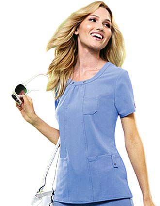 Dickies Xtreme Stretch Junior Scoop Neck Nurse Scrub Top-DI-82850