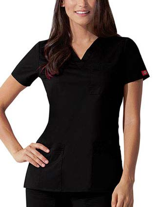 Dickies GenFlex Junior Youtility Basic V-Neck Scrub Top-DI-82855