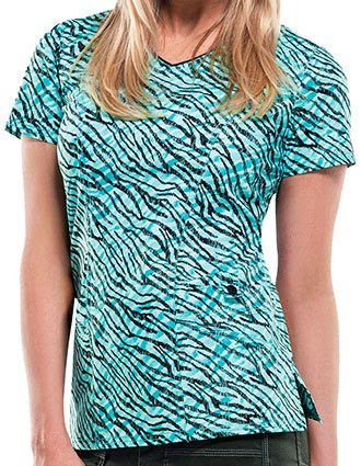 Dickies Women's Scribble It Down Printed V-Neck Scrub Top