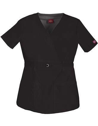 Dickies Gen Flex Junior Fit Mock Wrap Nurse Scrub Top