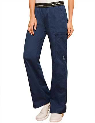 Dickies Enzyme Washed Missy Fit Straight Leg Medical Scrub Pants-DI-84007