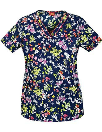 Dickies EDS Women's V-Neck Printed Nursing Scrub Top-DI-84724CDB