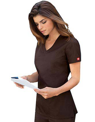 Dickies EDS Missy Fit Two Pocket V-Neck Scrub Top