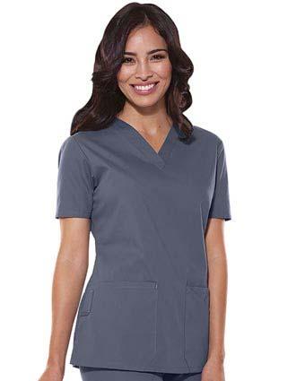 Dickies Soft Works Missy Fit Three Pocket V-Neck Nursing Scrub Top