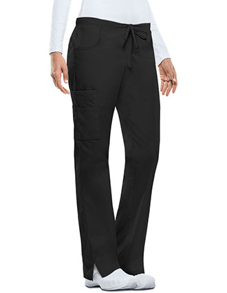 Dickies EDS Women's Missy Fit Mid-Rise Drawstring Cargo Scrub Pant-DI-86206