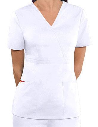 Dickies Women's EDS Mock Wrap Nursing Scrub Top-DI-86806