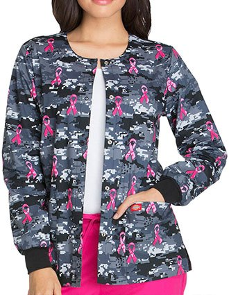 Dickies EDS Breast Cancer Awareness Women's Fight For The Cure Printed Jacket