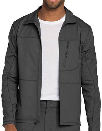 Dickies Dynamix Men's Mock Turtle Neck Zip Front Warm-up Jacket