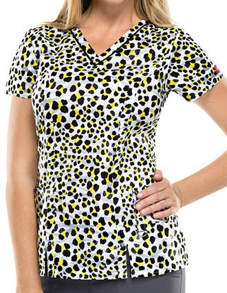 Dickies You're Bright On Time Women's Must Be The Spot V-Neck Top