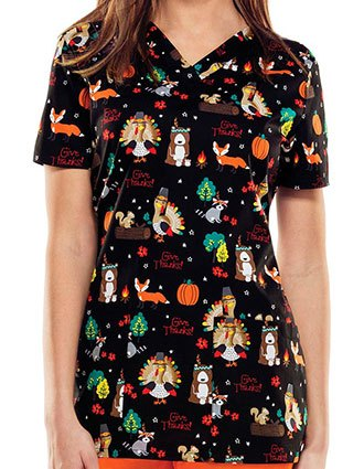 Dickies EDS Fall Harvest Women's Thanksgiving Halloween Printed Top