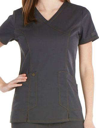 Dickies Essence Women's Princess Seam Mock Wrap Top