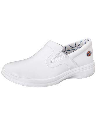 Dickies Women White Wide Duty Leather Step-In