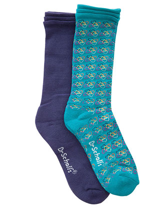 Dr. Scholl's 2pr Knee High Support Socks-DR-DSL8005