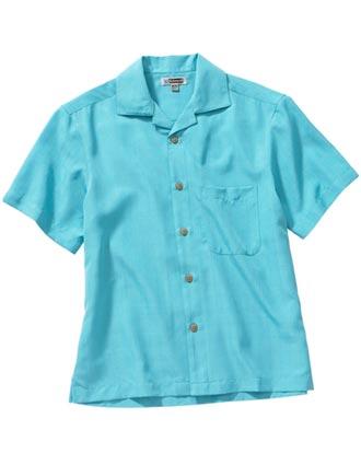 Edward Unisex Jacquard Batiste Camp Shirt-ED-1030