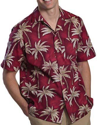Tropical Palm Camp Shirt-ED-1034