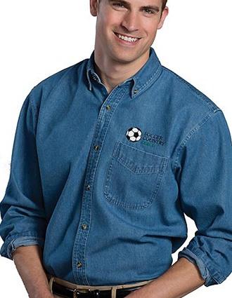 Edward Men's Denim Shirt-ED-1090