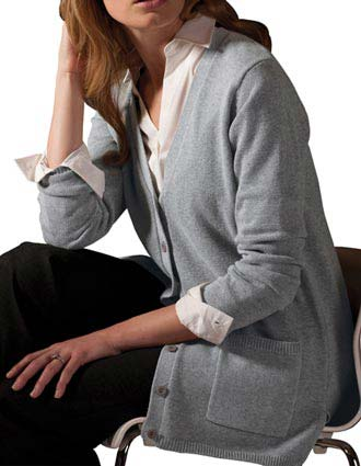 Women's V-neck Long Cardigan