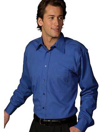 Men's Easy Care Poplin Point Collar Shirt-ED-1287