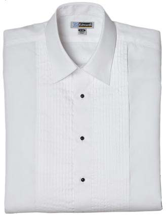Men's Tuxedo Shirt 1/4 Pleat-ED-1393