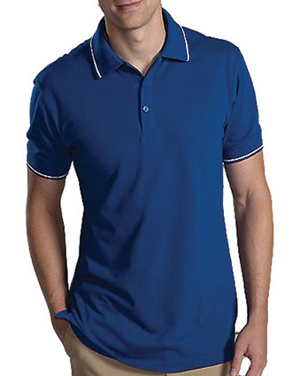 Men's Short Sleeve Tipped Collar And Cuff Polo-ED-1510