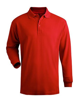 Men's Long Sleeve Pique Polo (No Pocket)-ED-1515