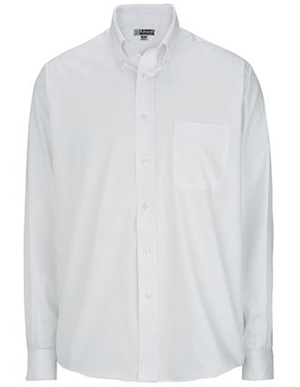 Men's Long Sleeve Pinpoint Oxford Shirt-ED-1975
