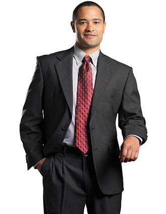Men's Single Breasted Wool Blend Suit Coat-ED-3680