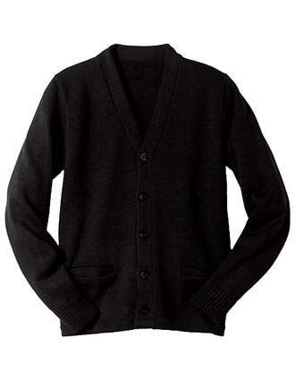 Heavy Weight V-neck Pocket Hemmed Cardigan-ED-383