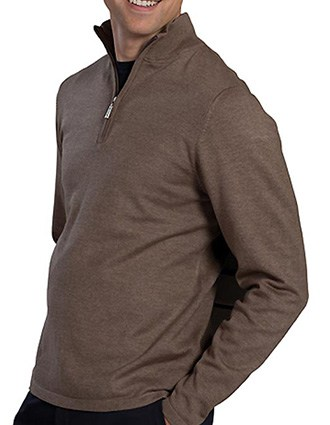 Edward Unisex1/4 Zip Fine Gauge Sweater-ED-4072