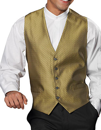 Men's Diamond Brocade Vest-ED-4390