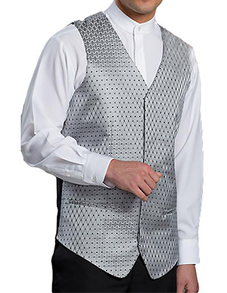Men's Diamond And Dots Vest-ED-4497