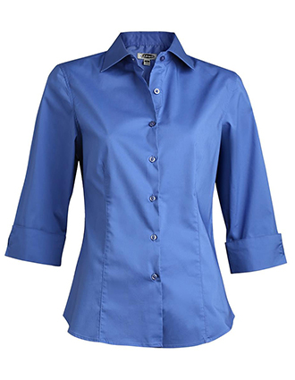 Women's Tailored 3/4 Sleeve Stretch Blouse-ED-5033
