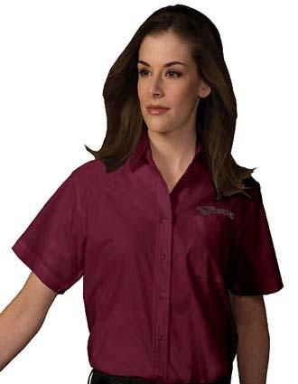 Women's Short Sleeve Value Broadcloth Shirt-ED-5313
