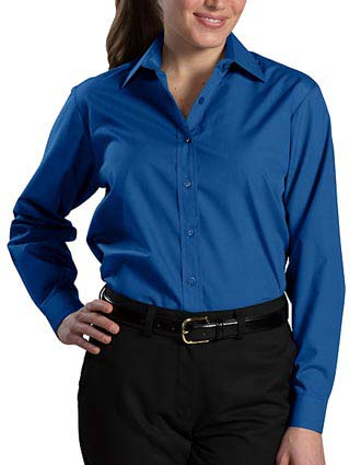 Women's Long Sleeve  Value Broadcloth Shirt-ED-5363