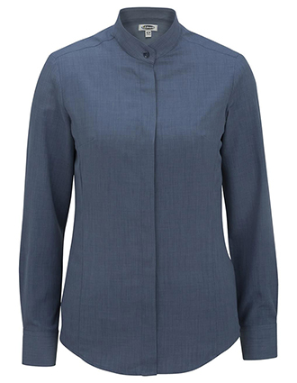 Women's Batiste Banded Collar Shirt-ED-5392
