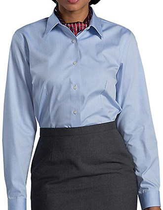 Womens No-iron Stay Collar Dress Shirt