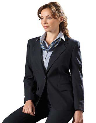 Women's Single Breasted Wool Blend Suit Coat-ED-6680