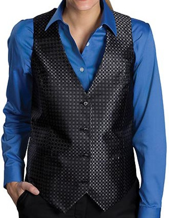 Edward Women's Ladies Grid Vest-ED-7396