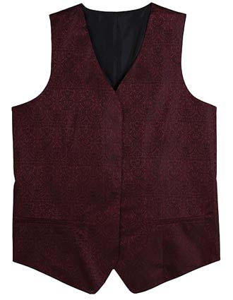 Women's Fly Front Paisley Vest-ED-7491