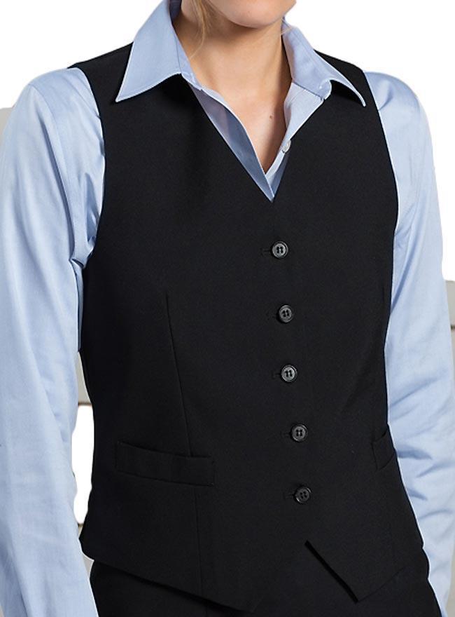 Women's High Button Vest-ED-7680