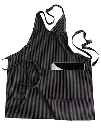 V-neck Bib Apron With Pockets-ED-9009