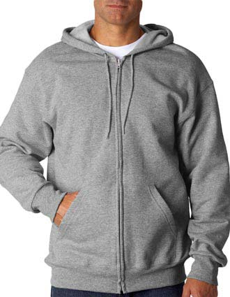 82230 Fruit of the Loom Adult SupercottonFull-Zip Hooded Sweatshirt-FO-82230