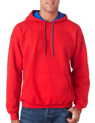 185C00 Gildan Adult Heavy BlendContrast Hooded Sweatshirt-GI-185C00
