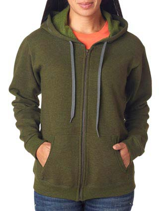 Gildan Missy Fit Heavy BlendVintage Full-Zip Hooded Sweatshirt-GI-18700FL