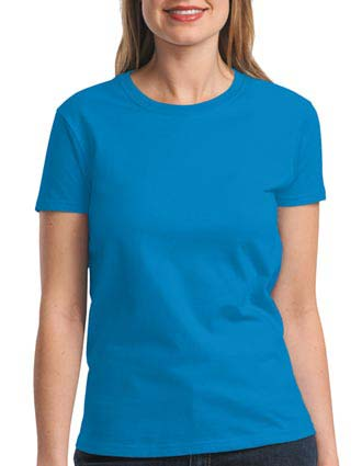Gildan - Ladies Ultra Cotton 100% Cotton T-Shirt. 2000L-GI-2000L