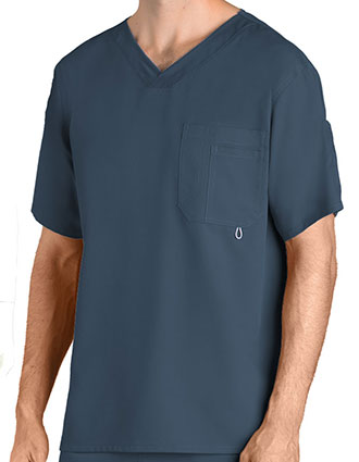 Greys Anatomy Men's Three Pocket High Open V-Neck Scrub Top-GR-0107